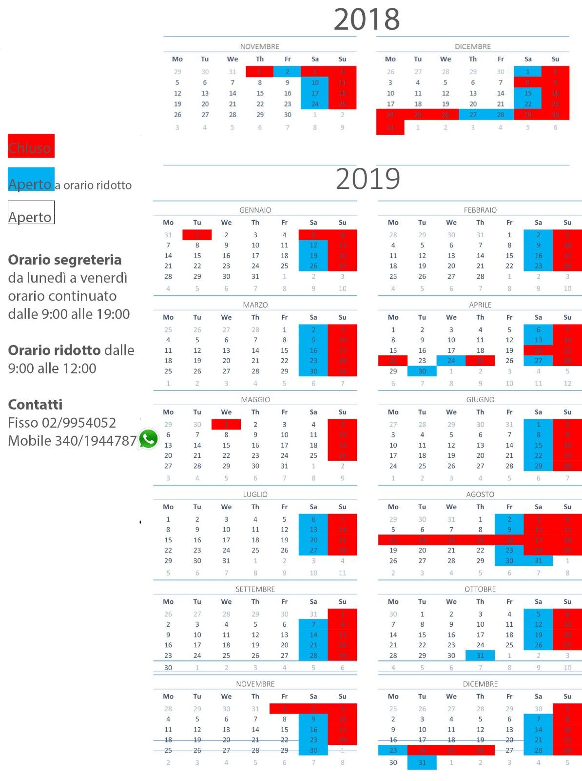 Calendario Romena 2019.Contattaci Il Cubo